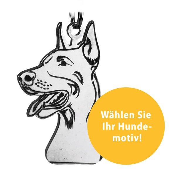 Schlüsselanhänger mit Hundemotiv