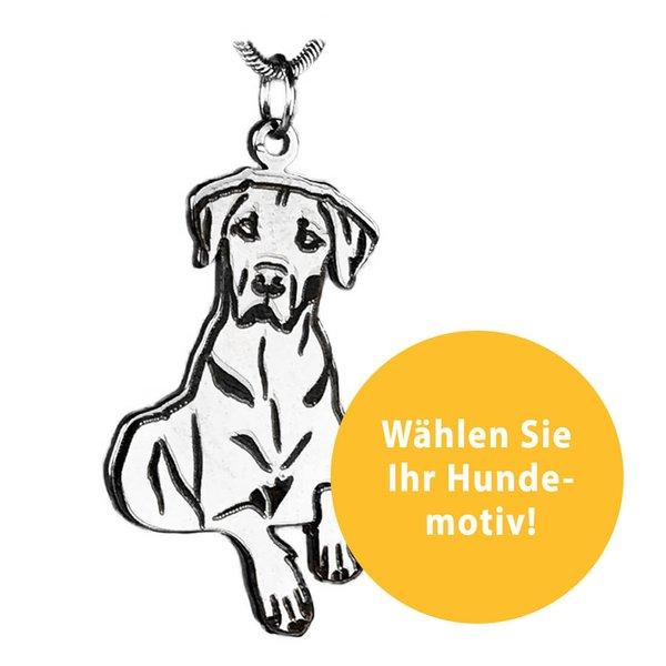 Kettenanhänger mit Hundemotiv